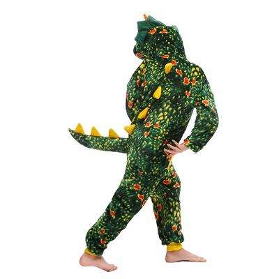 Lovely Animal Sleepwear Dinosaur Onesie, Dark Green_6
