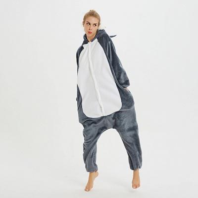 Lovely Pajamas Sleepwear for Women Huskie Onesie, Dark Grey_14