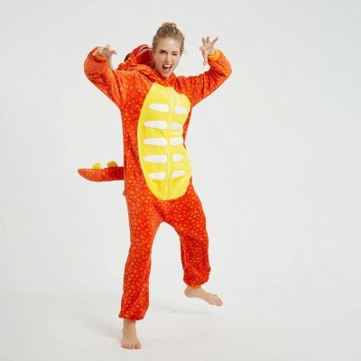 Adorable Adult Pyjamas for Women Triceratops Onesie, Orange_7