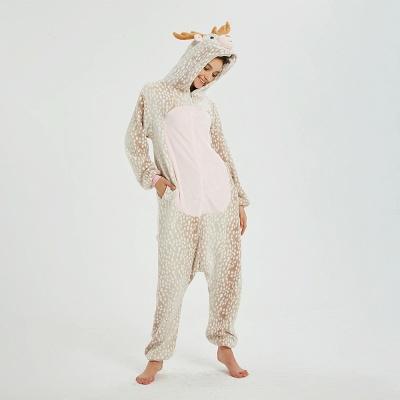 Adorable Adult Pyjamas for Women Deer Onesies_12