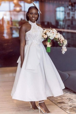 Tea Length A-line Sleeveless Elegant Bridesmaid Dresses | Affordable Maid of Honor Dresses_1