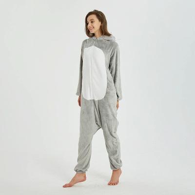 Cute Animal Pyjamas for Women Mouse Onesies, Grey_13