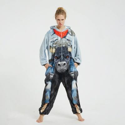 Cute Animal Pyjamas Hoodie Onesies for Women_4