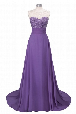 Cheap Chic Jewel Chiffon Tulle Party Dress with Sequins in Stock_2