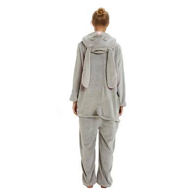 Adorable Adult Pyjamas for Women Long Ears MashiMaro Onesie, Grey_22
