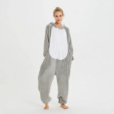 Adorable Adult Pyjamas for Women Long Ears MashiMaro Onesie, Grey_17