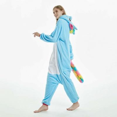 Downy Adult Sky Blue Unicorn Onesies Sleepwear for Girls_9