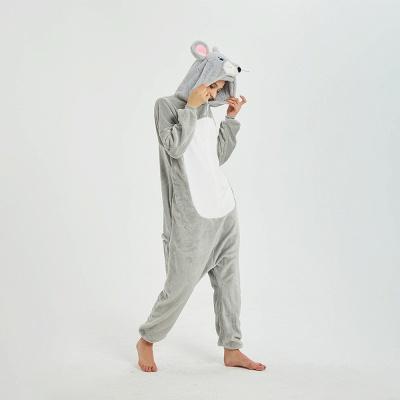 Cute Animal Pyjamas for Women Mouse Onesies, Grey_18