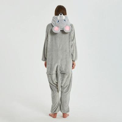 Cute Animal Pyjamas for Women Mouse Onesies, Grey_22