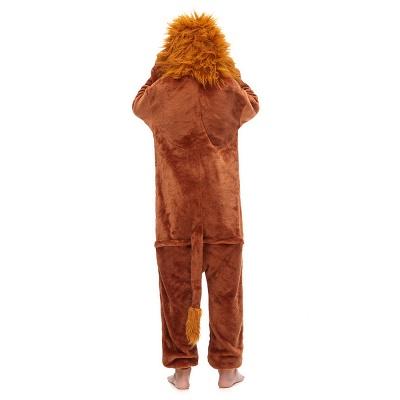 Cute Animal Sleepwear for Boys Lion Onesie, Brown_5
