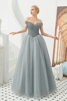 Off the Shoulder Sweetheart Jade A-line Long Prom Dresses | Elegant Evening Dresses Cheap_3
