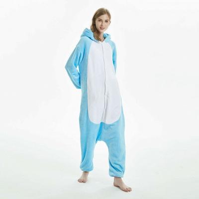 Downy Adult Sky Blue Unicorn Onesies Sleepwear for Girls_5