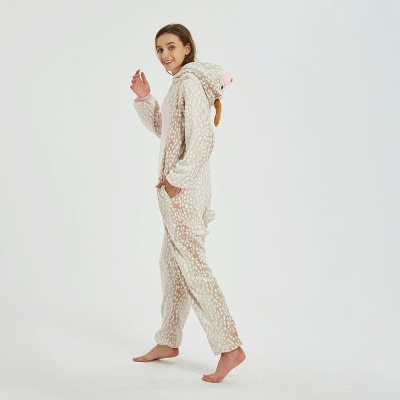Adorable Adult Pyjamas for Women Deer Onesies_16