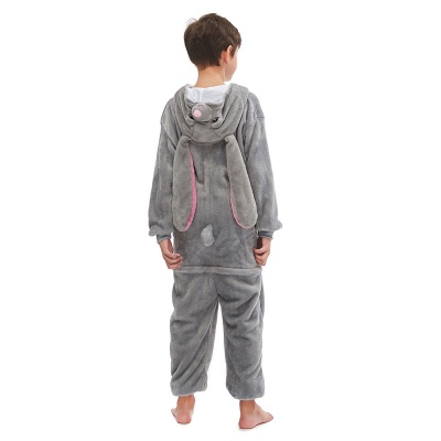 Lovely Animal Sleepwear for Boys MashiMaro Onesie, Grey_5