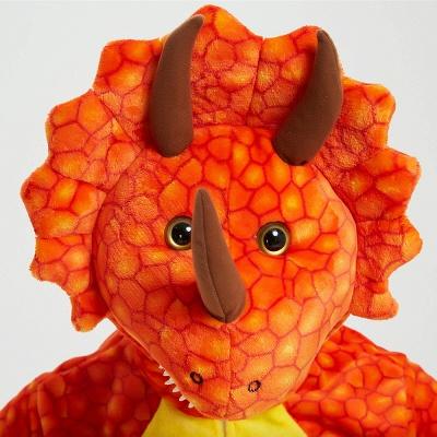 Adorable Adult Pyjamas for Women Triceratops Onesie, Orange_16