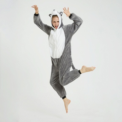 Adorable Adult Pyjamas for Women MashiMaro Onesie, Grey_12