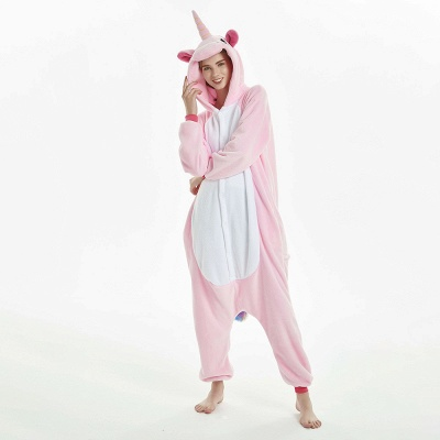 Cute Adult Pink Unicorn Onesies Sleepwear for Girls_18
