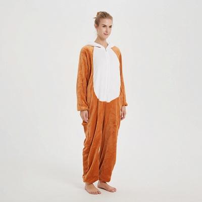 Cute Sleepwear for Women Brown Hoodie Onesies_2