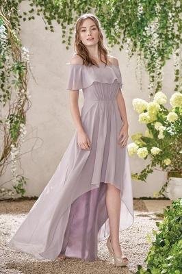 HI-Lo Jewel Short Sleeves Floor Length Bridesmaid Dresses | Cheap Maid of Honor Dresses_1
