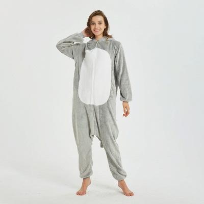 Cute Animal Pyjamas for Women Mouse Onesies, Grey_10