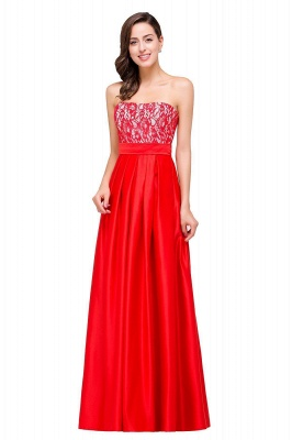 EVERLY | A-line Sleeveless Sweetheart Floor-Length Red Chiffon Prom Dresses_1