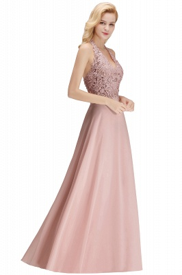 Cheap A-line Halter Chiffon Lace Bridesmaid Dress with Beadings in Stock_24