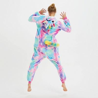 Cute Animal Pyjamas for Women Rainbow Hoodie Onesies_4
