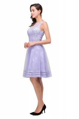 2019 Lavender Short Lace A-Line Sleeveless Mini Homecoming Dress_6
