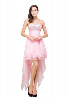 New Arrival A-Line Mini Crystal Sweetheart Ruffles  Homecoming Dress_7