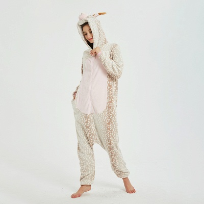 Adorable Adult Pyjamas for Women Deer Onesies_10