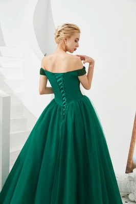 Off the Shoulder Sweetheart Jade A-line Long Prom Dresses | Elegant Evening Dresses Cheap_11