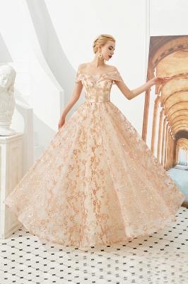 Gorgeous Off the Shoulder A-line Floor Length Lace Prom Dresses | Long Evening Dresses Cheap_4