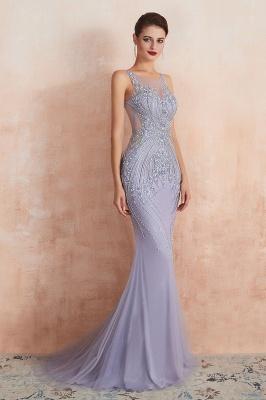 Sleeveless Bateau Beaded Sexy Long Mermaid Prom Dresses | Elegant Lilac Evening Dresses_6