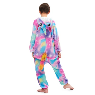 Cute Animal Sleepwear Unicorn Onesie, Rainbow_3