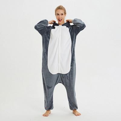 Lovely Pajamas Sleepwear for Women Huskie Onesie, Dark Grey_12