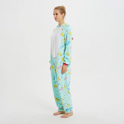 Cute Animal Pyjamas for Women Triceratops Onesie, Green_4