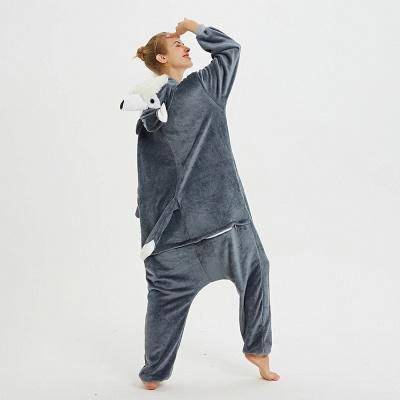 Lovely Pajamas Sleepwear for Women Huskie Onesie, Dark Grey_7