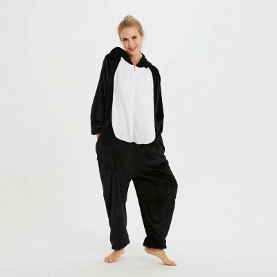 Cute Pyjamas for Women Huskie Onesies, Dark_15
