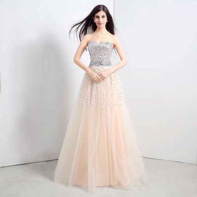 CECELIA   A-line Strapless Tulle Party Dress With  Sequined_1
