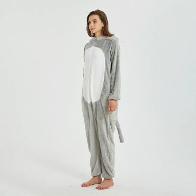 Cute Animal Pyjamas for Women Mouse Onesies, Grey_2
