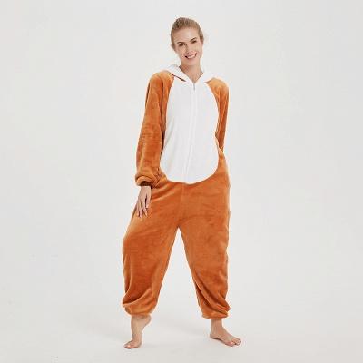 Cute Sleepwear for Women Brown Hoodie Onesies_5