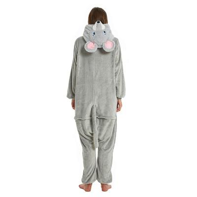 Cute Animal Pyjamas for Women Mouse Onesies, Grey_24