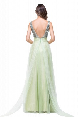 Scoop-Neckline Long Crystal A-line Charming Sleevless  Prom-Dress_7