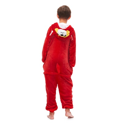 Cute Animal Sleepwear Bear Onesie, Red_5