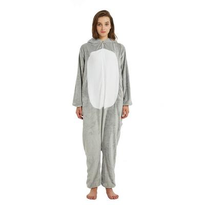 Cute Animal Pyjamas for Women Mouse Onesies, Grey_23