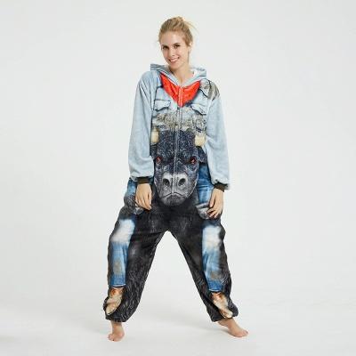 Cute Animal Pyjamas Hoodie Onesies for Women_5