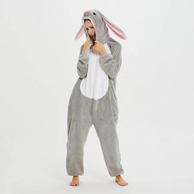Adorable Adult Pyjamas for Women Long Ears MashiMaro Onesie, Grey_19