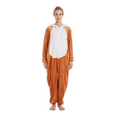 Cute Sleepwear for Women Brown Hoodie Onesies_18
