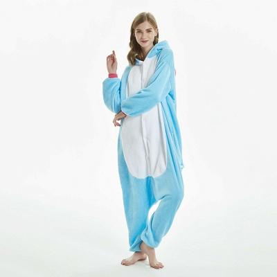 Downy Adult Sky Blue Unicorn Onesies Sleepwear for Girls_8