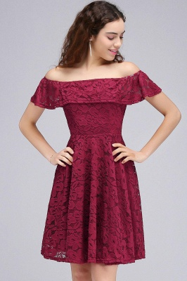 Cheap A-Line Off-the-shoulder Lace Burgundy Homecoming Dress in Stock_2